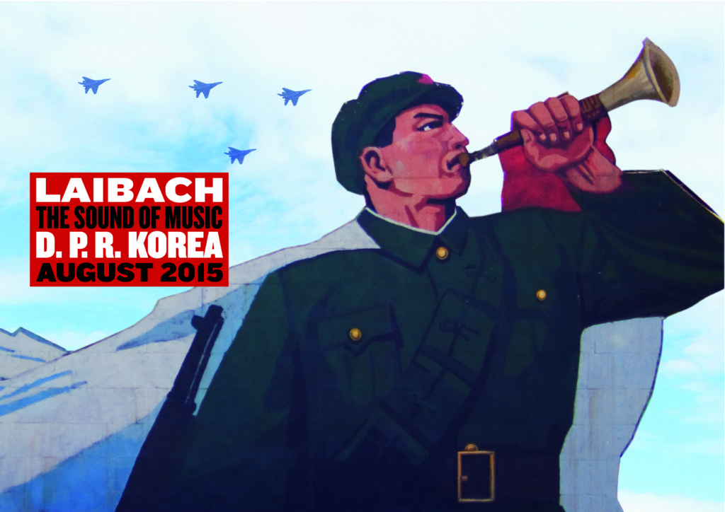 תמיד סוכנים כפולים. כרזה לקראת ההופעה בצפון קוריאה